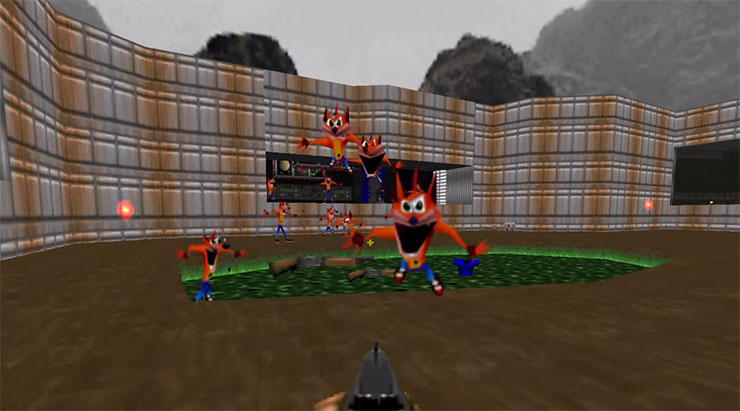 Mod para Doom troca todos os inimigos por Crash Bandicoot