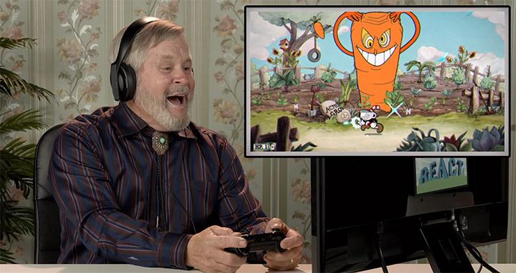 Vídeo mostra reação de idosos ao jogarem Cuphead
