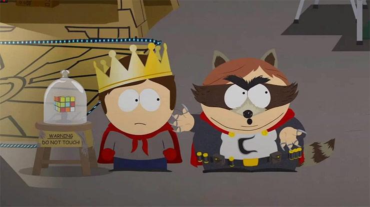Cartman te dá uma bronca se você trapacear em South Park: A Fenda que Abunda Força
