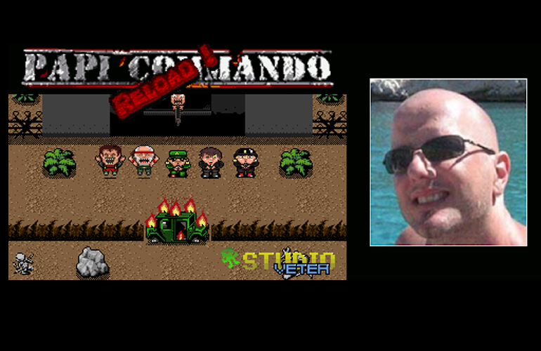 Confira entrevista com o desenvolvedor de Papi Commando Reload, novo jogo indie em produção para Mega Drive!