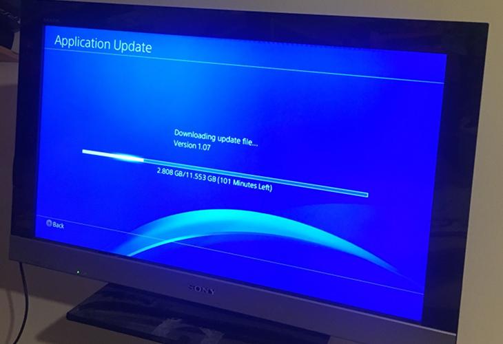 Atualizando jogo no PS4