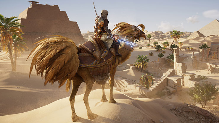 Assassin's Creed Origins recebe camelo com visual de Chocobo