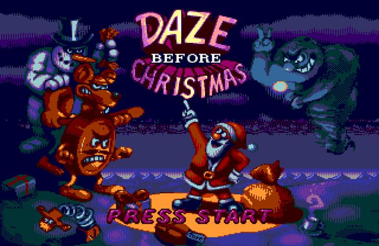 Daze Before Christmas – Ajude Papai Noel salvar a noite de Natal nesta aventura para Mega Drive!