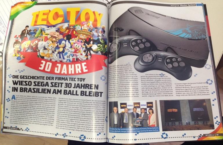 Tectoy e Stefano Arhnold estampam matéria de revista alemã Return Magazine!