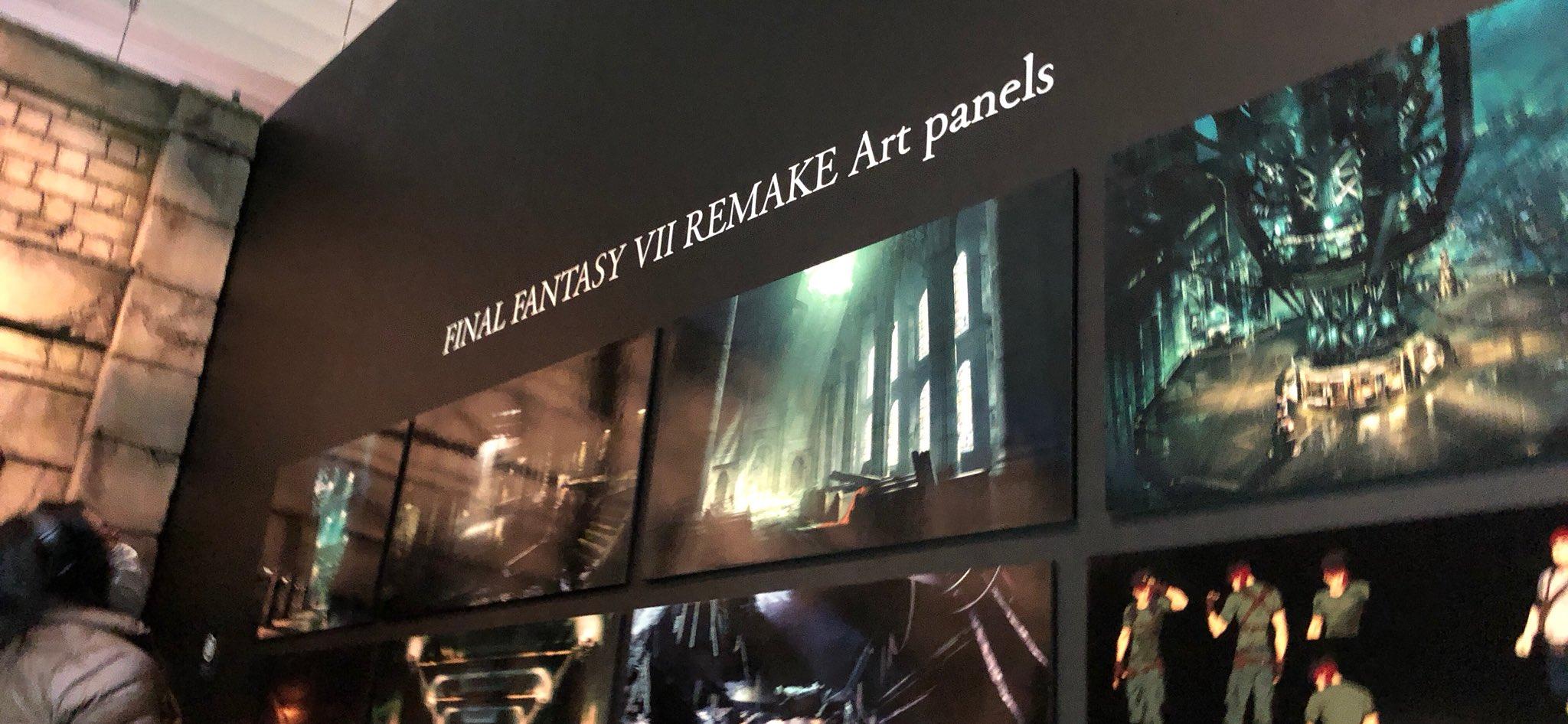 Artes de Final Fantasy VII Remake são reveladas em exposição