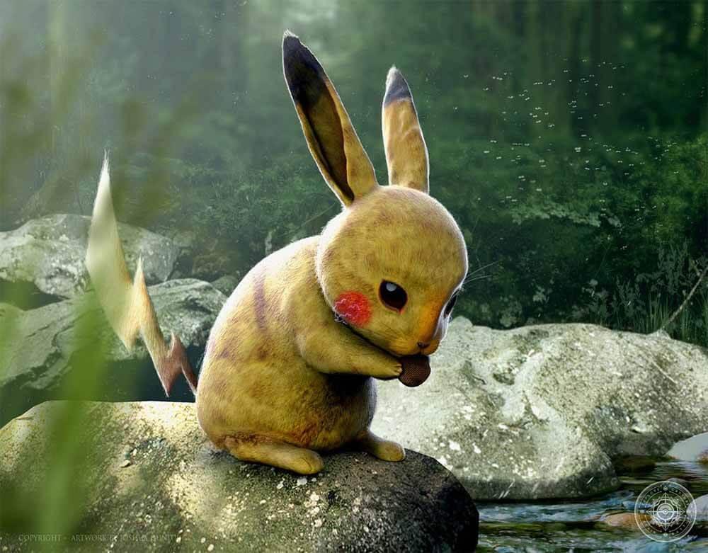 Artista cria 38 pinturas digitais realistas de Pokémon clássicos