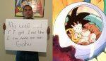 Pai fã de Dragon Ball consegue 1 milhão de likes e vai batizar filho de Goku!