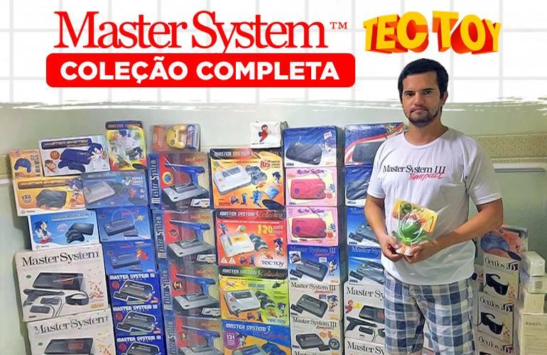 Conheça Diógenes Avelino, fã que possui a coleção completa de Master System da Tectoy!