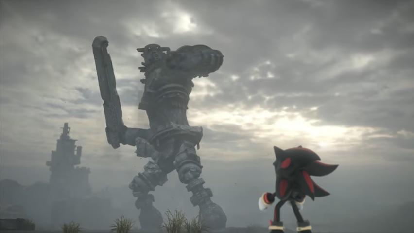 Personagem da franquia Sonic vai parar em mundo de Shadow of the Colossus em crossover inusitado