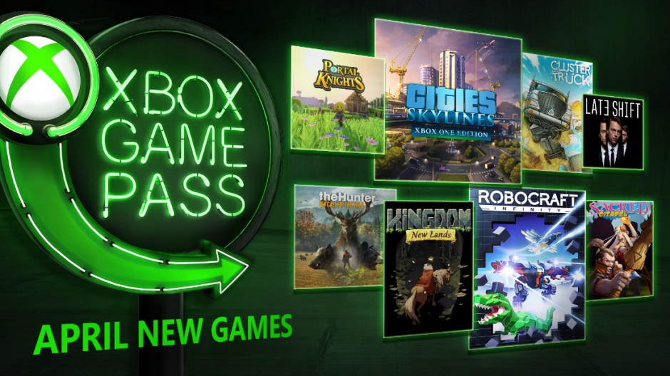 Xbox Game Pass - Abril