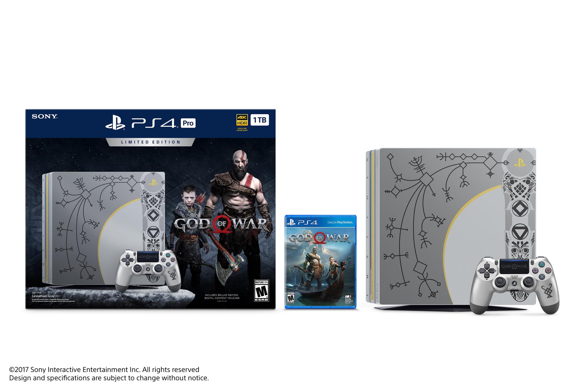 """Sony revela edição limitada de PS4 Pro com """"God of War"""""""