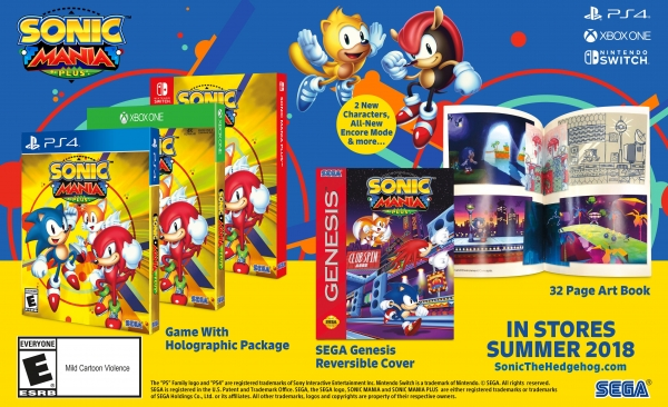 Sonic Mania ganhará edição física, mais conteúdo e série animada