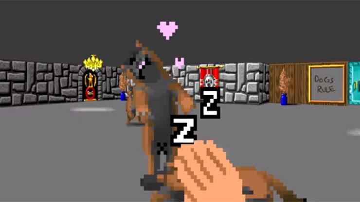 Mod para Wolfenstein 3D permite que você acaricie os cachorros para fazê-los dormir