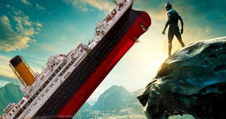 Pantera Negra supera Titanic e torna-se 3ª maior bilheteria dos EUA