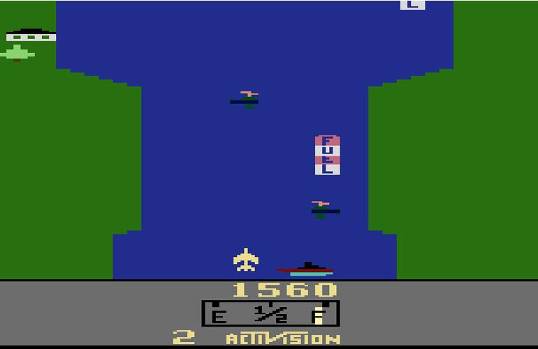 River Raid, o clássico do Atari e pioneiro no gênero de combates aéreos!