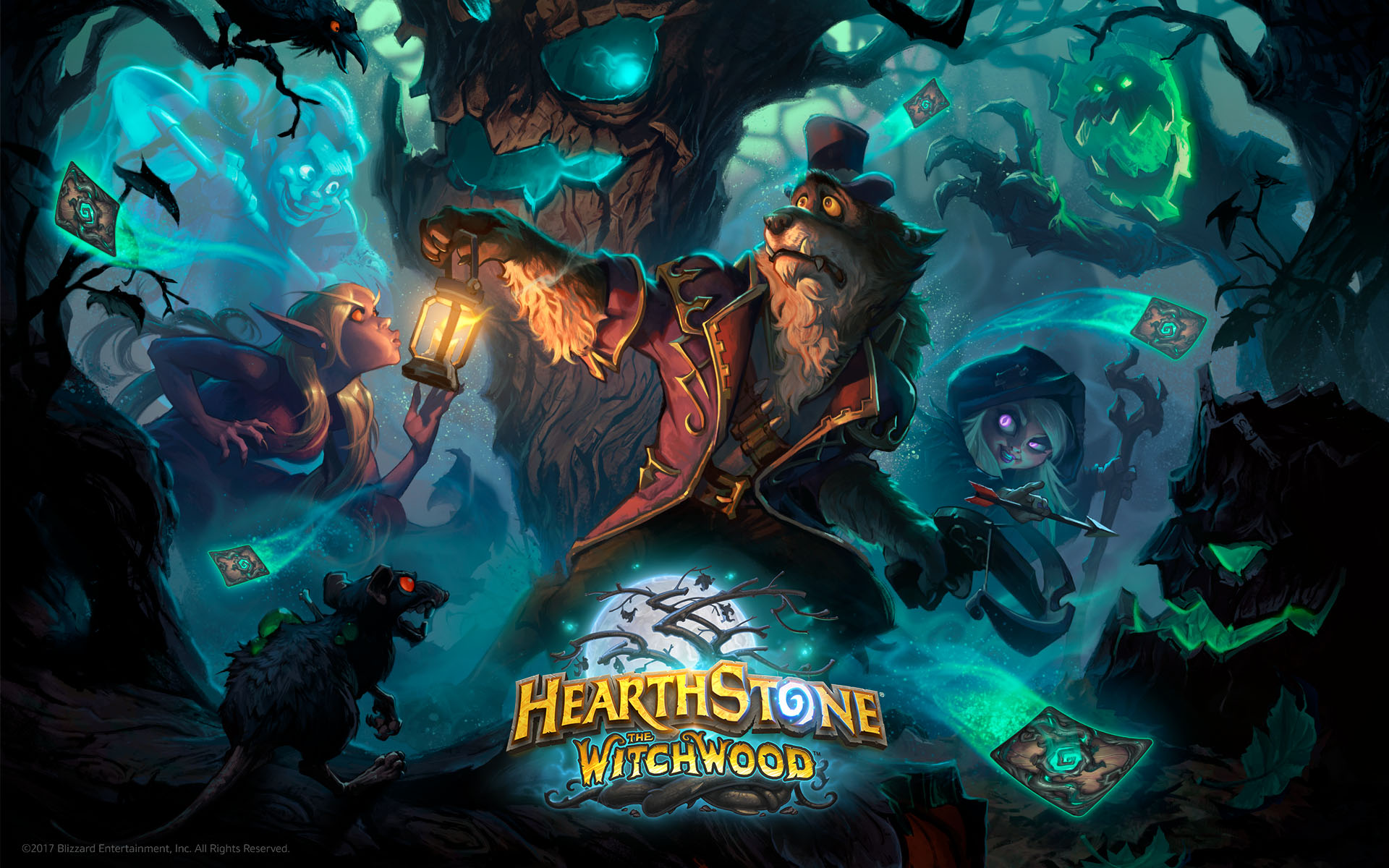 Hearthstone - Bosque das Bruxas - KeyArt Wallpaper