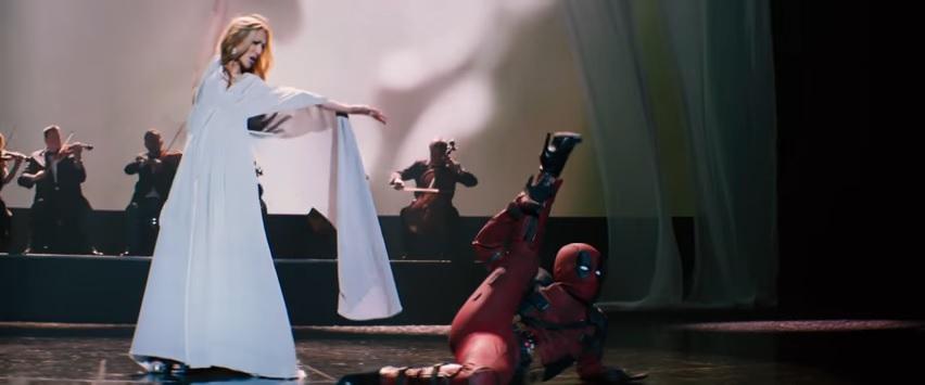 Deadpool dança com Céline Dion em clipe de música do novo filme