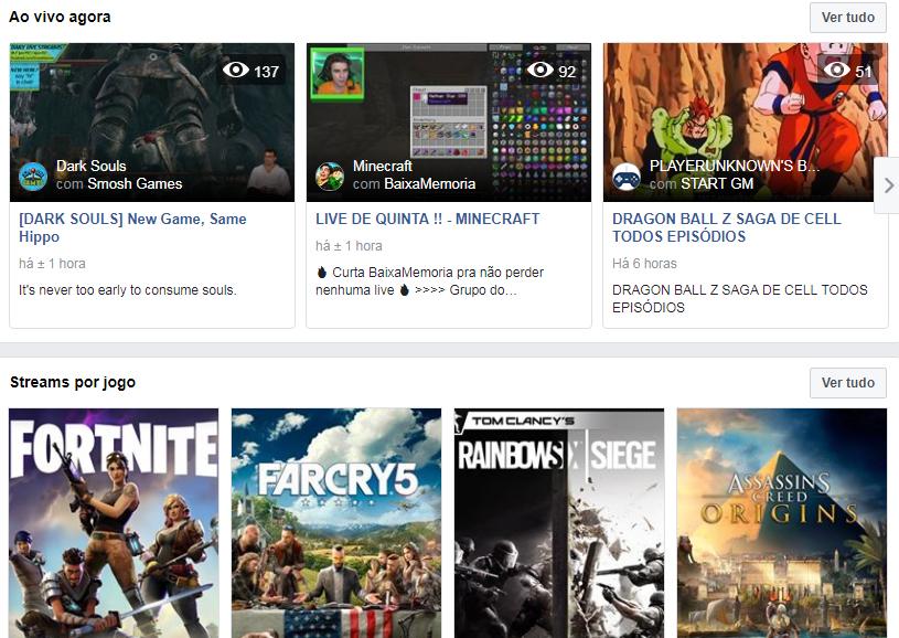 Facebook lança serviço de streaming de games para competir com Twitch