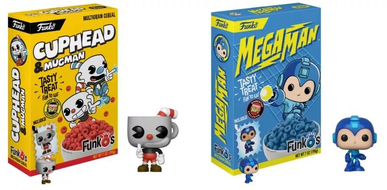 Funko anuncia seu próprio cereal com miniaturas de Cuphead e Mega Man