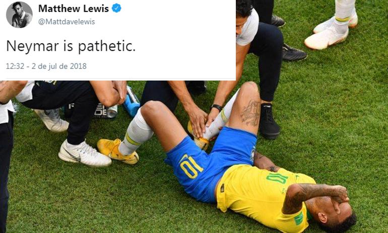 """Ator de Harry Potter diz que """"Neymar é patético"""" e gera revolta de brasileiros"""