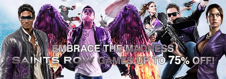 Franquia Saints Row está com desconto de até 75% na plataforma Gamersgate