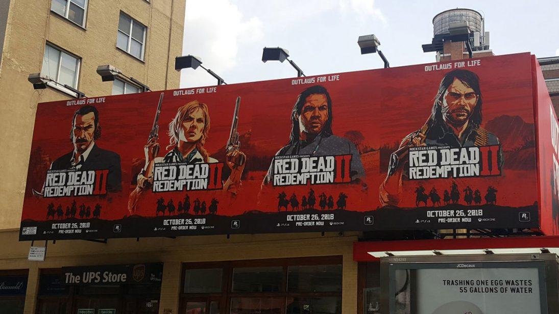 Chega logo outubro! Red Dead Redemption 2 recebe outdoors em Nova York