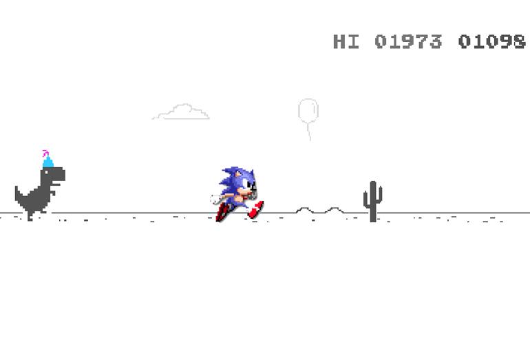 Jogo do dinossauro no Chrome teve influência de Sonic the Hedgehog