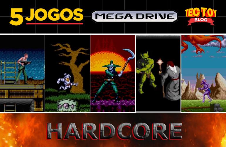 "Hardcore! 5 Jogos estilo ""Dark Souls"" do Mega Drive!"
