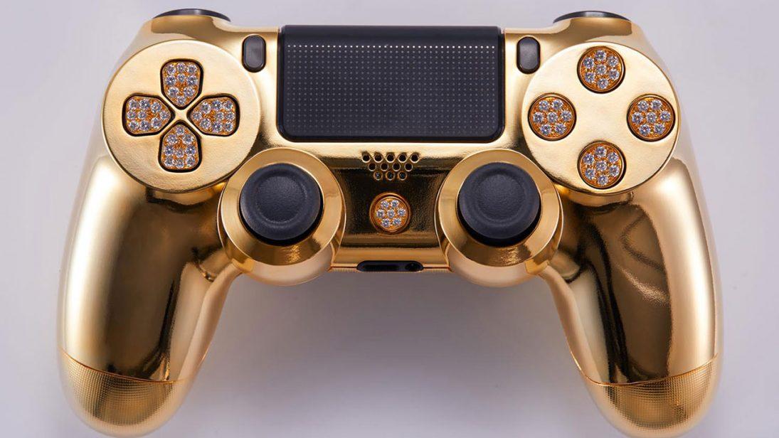 DualShock 4 de ouro e incrustado com diamantes é colocado à venda por R$ 52 mil