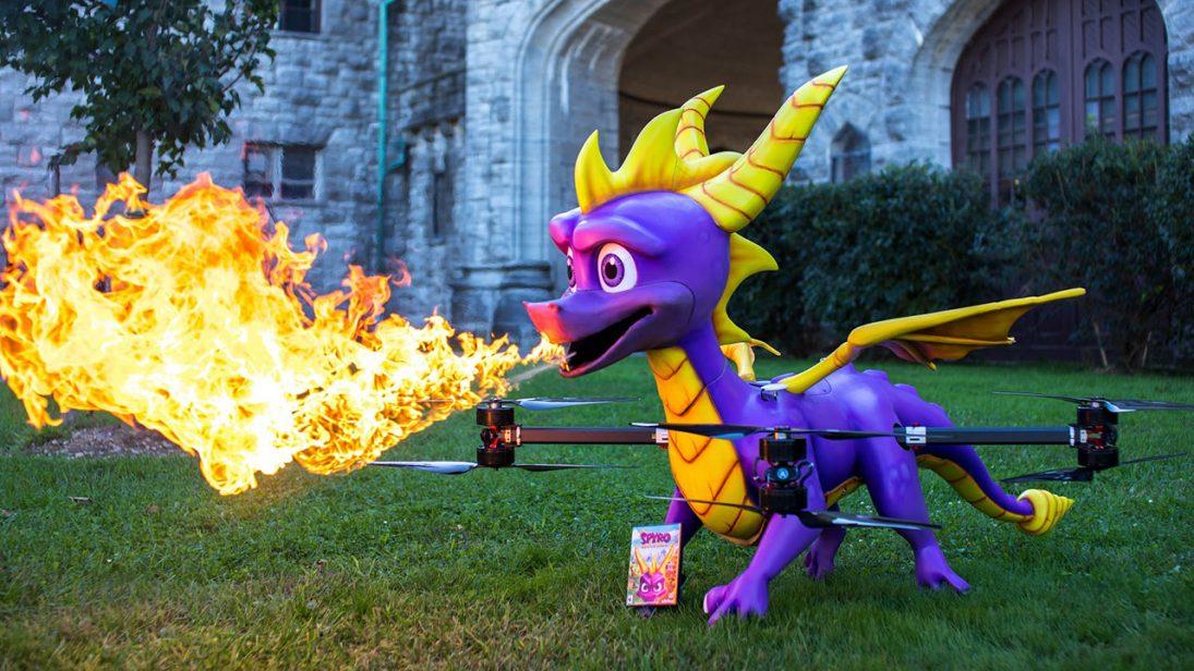 Activision cria drone que cospe fogo para lançamento de Spyro Reignited Trilogy