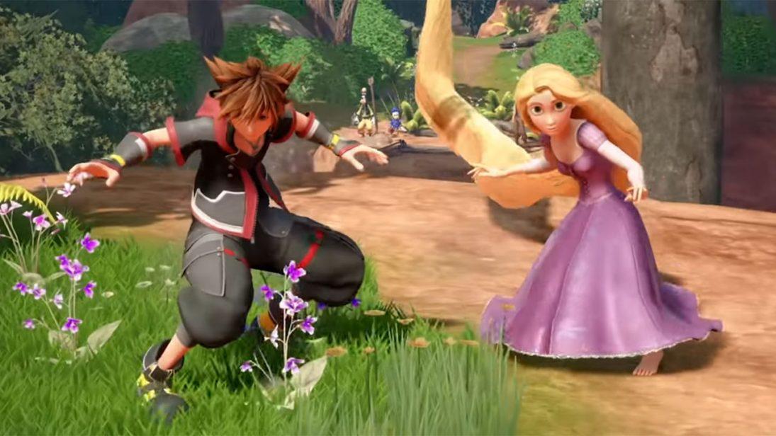 Novo trailer de Kingdom Hearts III apresenta o mundo do filme Enrolados