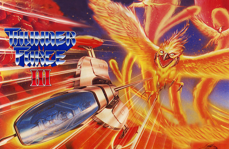Thunder Force III – A saga espacial continua no Mega Drive!