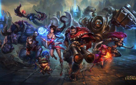 League of Legends - KeyArt com Campeões - Wallpaper Full HD