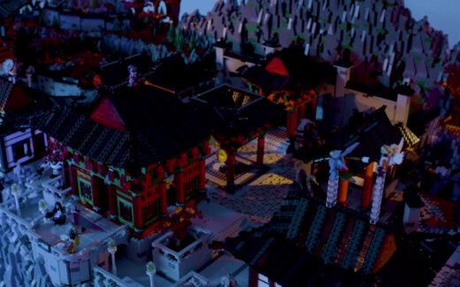 Overwatch - Mapa de Busan feito com Lego. Foto: Reprodução