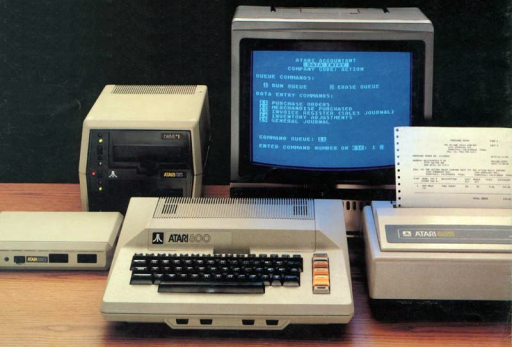 O Contador – Conheça o software 8 bits mais caro da Atari The-Atari-Accountant-In-Action-512x347