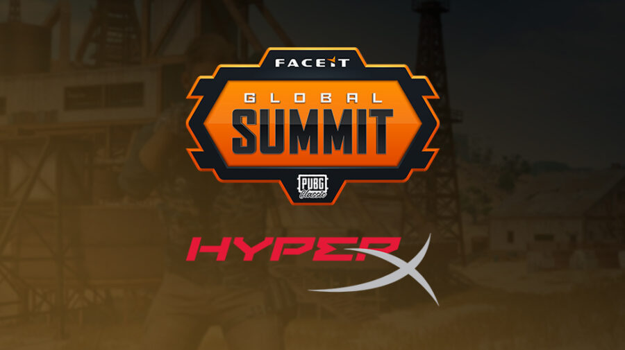 "Evento ""FACEIT Global Summit: PUBG Classic"" será patrocinado pela HyperX"