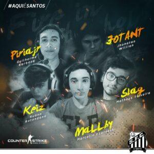 """Santos anuncia volta ao """"CS:GO"""" com nova lineup"""