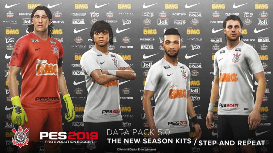 PES 2019 - Data Pack 5.0 está disponível e atualiza rostos de jogadores e uniformes de times