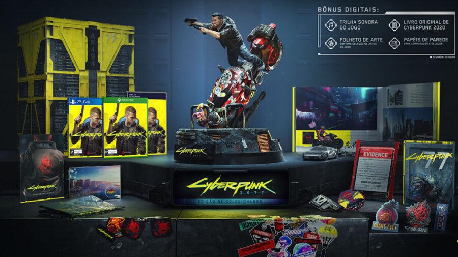 E3 - Edição de Colecionador de Cyberpunk 2077 traz estátua e vários itens