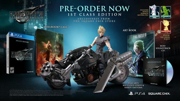 E3 - Edição de Colecionador de Final Fantasy VII Remake traz estátua de Cloud na moto