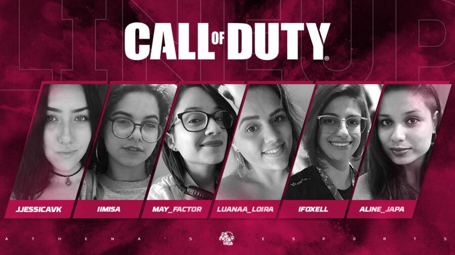Call of Duty: Athenas e-Sports anuncia line-up feminina no PS4