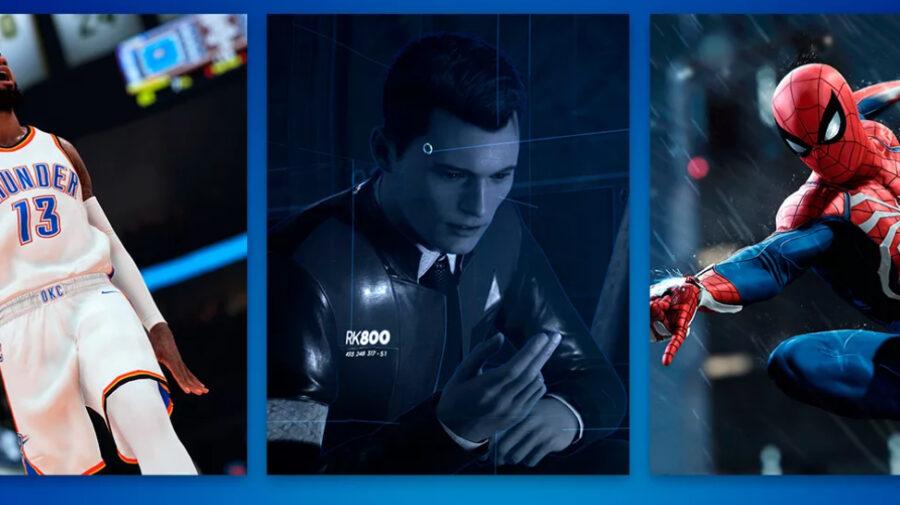 Homem-Aranha e Detroit: Become Human estão entre os jogos mais baixados da PS Store em junho