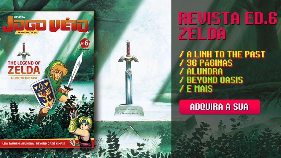 The Legend of Zelda: A Link to the Past é capa da Revista Jogo Véio Nº6