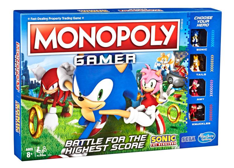 Jogo de tabuleiro Monopoly anuncia edição especial com Sonic the Hedgehog