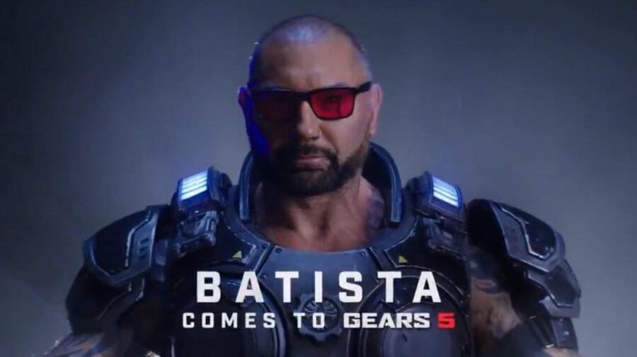 Dave Bautista confirma participação em Gears 5