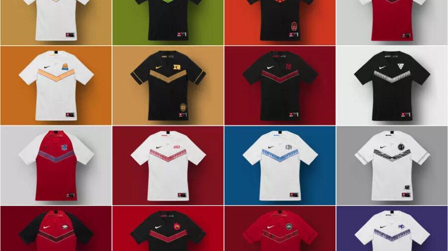 Nike revela novas camisas para equipes de League of Legends na China