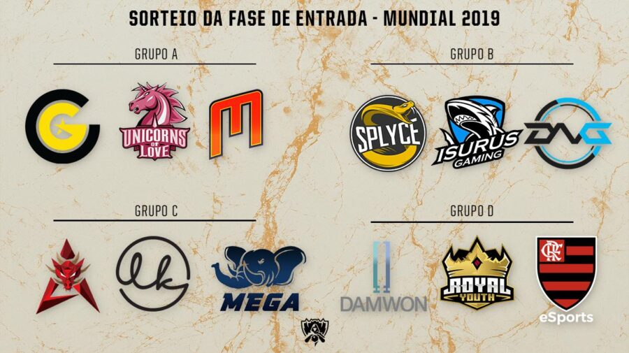 League of Legends: Flamengo disputará fase de entrada do Mundial 2019 em grupo com DAMWON e Royal Youth; Confira todos os grupos