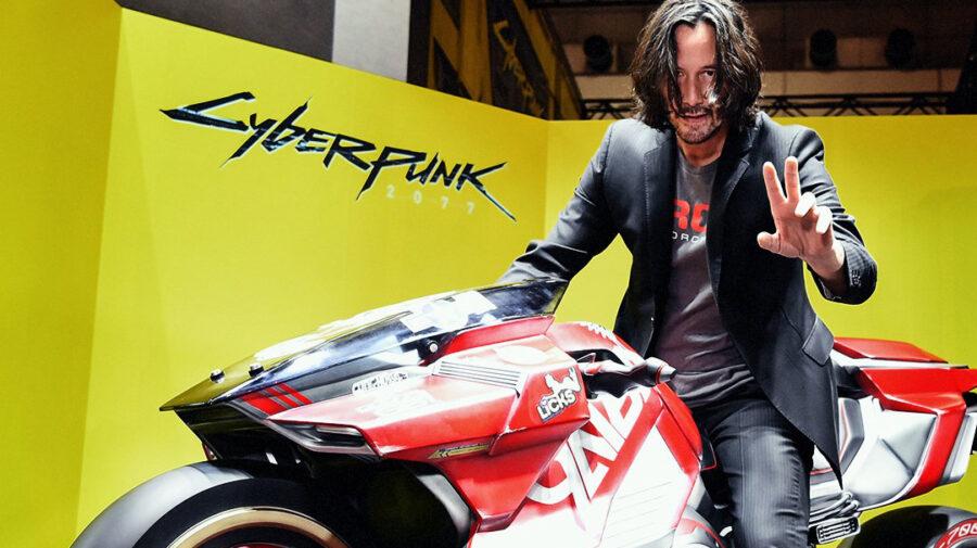 Keanu Reeves aparece em estande de Cyberpunk 2077 na TGS 2019