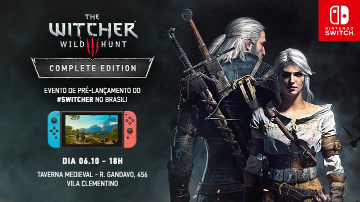 The Witcher 3 para Switch terá festa de lançamento na Taverna Medieval, em São Paulo