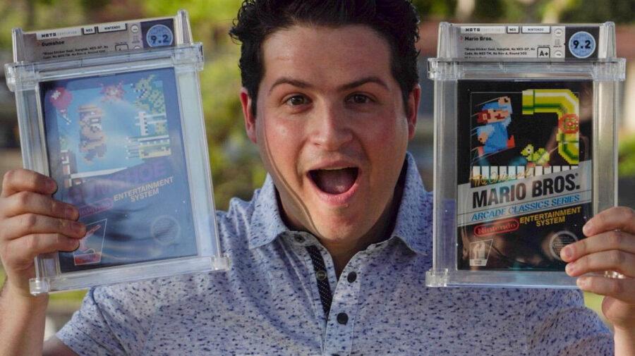 Dentista paga cerca de R$ 4 milhões em 40 títulos raros de NES